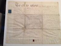 Antique 1844 Reverend Edward William Grinfield Biblical Scholar Signed Document