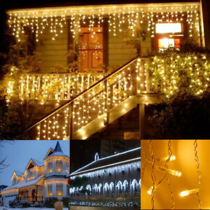 LED Icicle String Light Snowing Effect Christmas Indoor Outdoor Wedding Decor