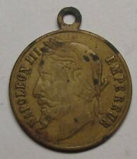 Napoleon III 19th century medallion. High grade!