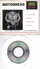 "MOTORHEAD (Ltd. 5000) Ace of spades (3"" single) 1988 on Castle incl. adapterring"