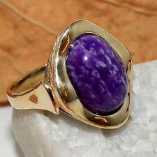 Sugilith Ring 14x10mm  Gold 375 / 9 K violett flieder RG53 Sogni Dóro Zertifikat