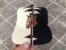 Vintage 90s Phoenix Coyotes Starter Shockwave Snapback, Strapback Hat, NHL