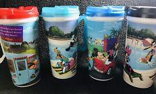 Lot of 4 Walt Disney Parks Souvenir Drinking Cups With Lids