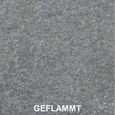 Trittplatten Basalt Schwarz G684 rund rauh ca. 30x3cm