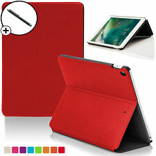 Red Clam Shell Smart Case Cover Sleeve for Apple iPad 9.7 2017 A1822 Stylus