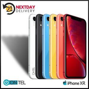🔥 Apple iPhone XR Unlocked 64GB 128GB SIM Free -All Colours All Networks 🔥