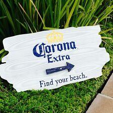 """Corona Extra Light  Beer Cerveza Bar Arrow Wood Sign Man Cave """"New"""""""