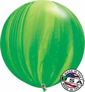 "HUGE 30"" Green Agate QUALATEX Balloon Latex Balloon Decoration Marbled Dinosaur"