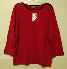 NEW size 1X Investments II red SWEATER womens