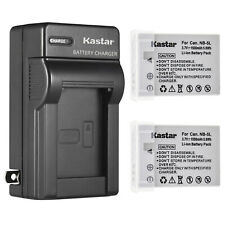 Kastar 2 Pack Battery + Charger for Canon PowerShot ELPH SD800 IS Digital Camera