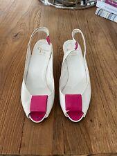 Christian Dior France Vintage Sling Back Leather Wedges / Pumps Size 6.5