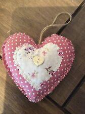 Handmade Shabby Chic LOVE DA APPENDERE LOVE cuore / cuori IMBOTTITA