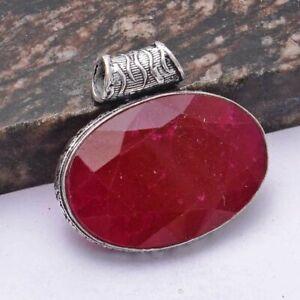 "Ruby Ethnic Handmade Pendant Jewelry 1.52"" AP 41686"