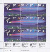 Marshall Inseln Mi Nr. 62 - 66 ** kompletter ZD Bogen, Space, postfrisch, MNH