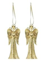 Christmas Heart Angel Ornament Set of 2