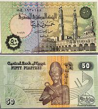 EGYPTE billet neuf de 50 PIASTRES  RAMSES 2 Pick62c