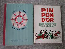 Do-Mi-Sol Chanson Vole et Pin Pon D'or chant scolaire 2 Ouvrages