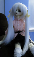 Doll Wig Long Pig Tails White Miku BJD Ball Jointed Size 7, 8, 9, 10 NEW