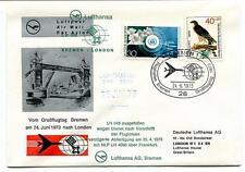 FFC 1973 Lufthansa Special Flight LH 4060 Bremen London Great Britain Frankfurt
