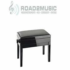 Klavierbank Pianobank Klavierhocker Pianohocker Elfenbein poliert stabil