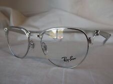 RAY BAN EYEGLASS FRAME RX6396 2936 TRANSPARENT SILVER 51-19-140 NEW & AUTHENTIC
