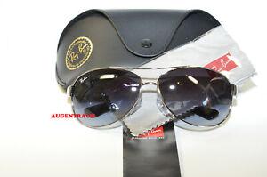 Original Unisex Ray Ban 3386 003/8G 67 Brille silber Metall Sonnenbrille Neu