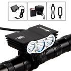 Solarstorm 12000Lm 3 x XM-L T6 LED 4-Mode Bicycle Light Headlamp+Battery 4*18650
