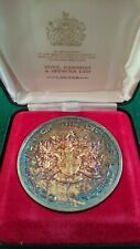 More details for silver gilt medal, case & coa - london bridge opened by queen elizabeth ii 1973