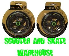 2X MADD GEAR MFX RYAN WILLIAMS SIGNATURE 120MM SCOOTER WHEELS METAL CORE BLACK