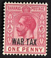 Bahamas 1918 War Tax 1d carmine  SG97 UNUSED