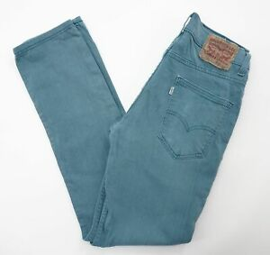 Levis Levi's Jeans Hose W29 L32 blau stonewashed distressed Gerade Denim E706