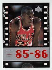 Michael Jordan 1998 Upper Deck Timeframe23  85-86 PLAYOFF RECORD 63 POINTS Card