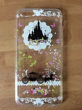 Disney Cinderella Castle & Carriage  Clear Silicone Gel Case  iPhone 7 Or 8 PLUS