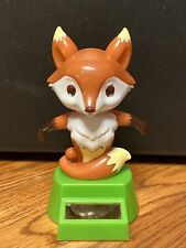 New Solar Powered Dancing Toy Bobble Head Fox