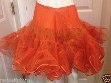 VTG Petticoat Skirt ORANGE Crinoline Tutu Slip Swing Square Dance Malco Modes