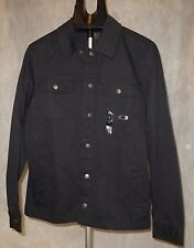$80 Men's Oakley Harted Lightweight Denim Jacket Jet Black Coat Size Small NWT