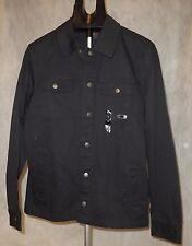$80 Men's Oakley Harted Lightweight Denim Jacket Jet Black Coat Size Small NWT