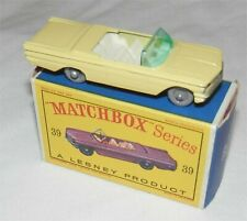 ScarceGrey Plastic wheels.60s.Matchbox.Lesney.39 Pontiac Convertible.MINT IN BOX
