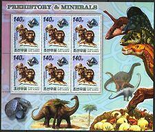 Korea 2006 Dinosaurs & Minerals I australopithesis afarensis Sheet of 6 MNH**