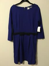 Girls From Savoy Anthropologie Blue Belted Dress, Size Medium