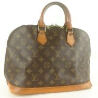 Auth LOUIS VUITTON ALMA Hand Bag Purse Monogram M51130 Brown