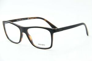 NEW PRADA VPR 05S UBH-1O1 HAVANA AUTHENTIC EYEGLASSES RX FRAME VPR05S 53-17