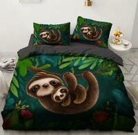 3D Forest Cute Sloth Baby KEP336 Bed Pillowcases Quilt Duvet Cover Kay