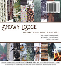 American Crafts Holiday Single Sided Paper Pad Snowy Lodge