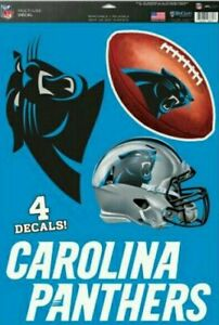 """Carolina Panthers 11""""x17"""" Sheet of Four Vinyl Fathead style decals Cut to Shape"""