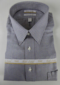 Roundtree & Yorke Gold Label Non Iron EZ Wash Dress Shirt NWT $75 Cotton Twill