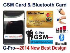 Espía auricular nuevo invsible GSM Micro inalámbrico Bluetooth Tarjeta de Identificación pequeña encubierto Bug