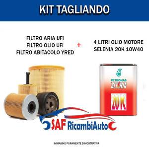 Inspektionskit Filter UFI + 4LT Öl Selenia 20K Fiat Panda 1.2 (312) Von 2012