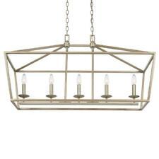 Home Decorators Weyburn 5-Light Antique Silver Caged Island Chandelier