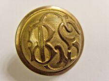 post civil war metal uniform dome button American am button co BCS script 45300